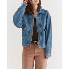 Someday, if - Dual-Pocket Denim Jacket