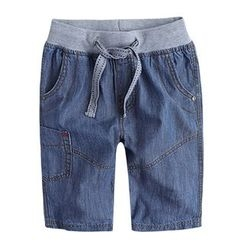 Happy Go Lucky - Kids Denim Shorts