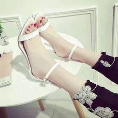 Charming Kicks - Ankle Strap Heeled Sandals