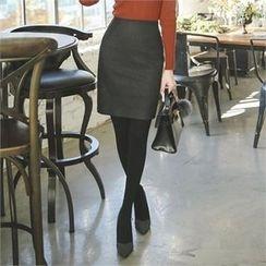 ode' - Seam-Detail Pencil Skirt