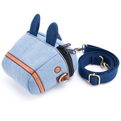 Plume Moon - Denim Horse Camera Pouch