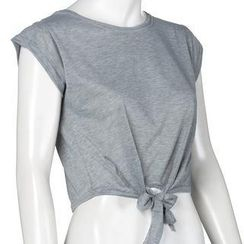 Flobo - Tie-Front Cropped Top