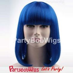 Party Wigs - PartyBobWigs - Party Medium Bob Wig - Blue