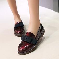锦洋鞋业 - 蝴蝶结漆皮乐福鞋