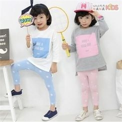 nanakids - Girls Set: Lettering T-Shirt + Star Leggings