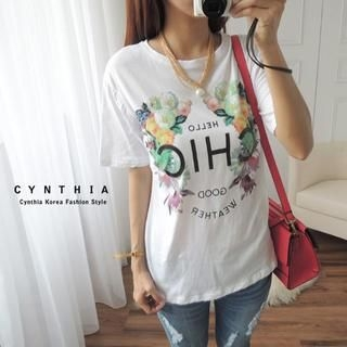 CYNTHIA - Short-Sleeve Striped T-Shirt