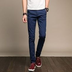 Elkelake - Plain Straight-Leg Pants