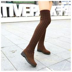 Sunsteps - Knit Panel Over-the-Knee Boots