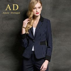 Aision - Striped Blazer / Trousers
