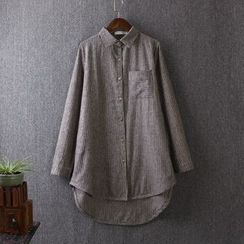 Blue Rose - Pinstriped Long Shirt