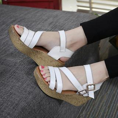 Hannah - Ankle Strap Wedge Sandals