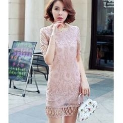 Romantica - Lace Sheath Dress