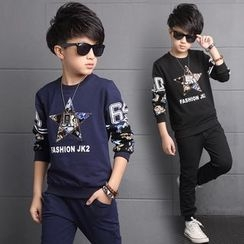 Pegasus - Kids Set: Printed Sweatshirt + Sweatpants