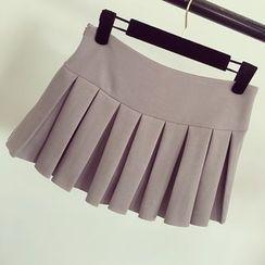 Honeydew - Pleated Miniskirt