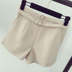 Honeydew - Belted High Waist Shorts