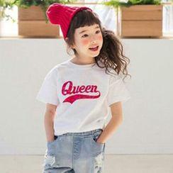 Cuckoo - 童裝短袖字母T恤
