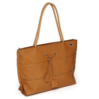 59 Seconds - Braided Strap Embossed Tote
