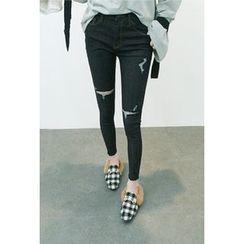 ATTYSTORY - Distressed Skinny Jeans
