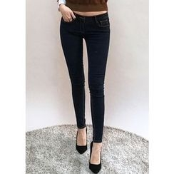 Chlo.D.Manon - Stitched Brushed-Fleece Lined Skinny Jeans