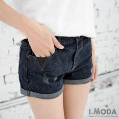 OrangeBear - Cuffed Denim Shorts
