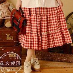Moriville - Plaid Maxi Skirt