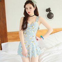 Sewwi - Floral Print Swim Dress