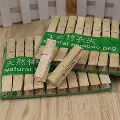 Evora - Bamboo Laundry Peg Set (20 pcs)