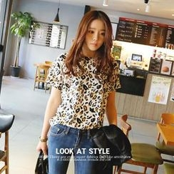 REDOPIN - Leopard Print T-Shirt