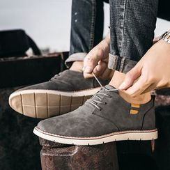 MR.GONG - Lace-Up Faux-Leather Shoes