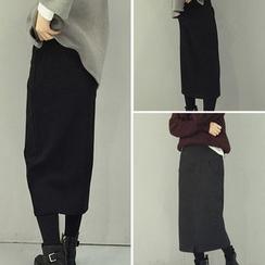 QZ Lady - Plain Midi Skirt