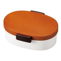 Hakoya - Hakoya Tight Mokume Oval Lunch Box Large (Brown)
