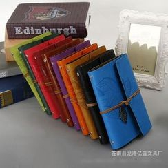 Mila Blue - Leaf Embossed Faux Leather Cover Notebook (S)