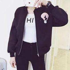 TriStyle - 貼布繡太空棉棒球外套