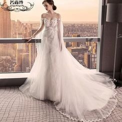 MSSBridal - Off Shoulder A-Line Wedding Gown