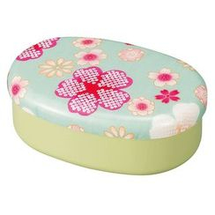 Hakoya - Hakoya Nunobari Oval Lunch Box Yume Sakura (Green)