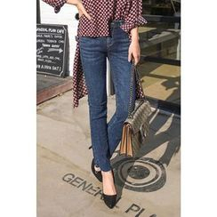 PPGIRL - Washed Boot-Cut Jeans