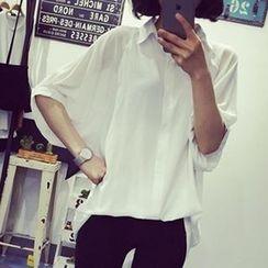 Eva Fashion - Oversized Chiffon Shirt