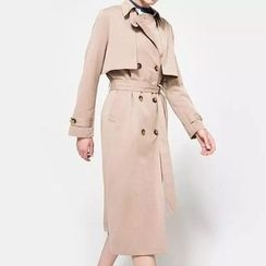 Chicsense - Double-Breasted Trench Coat