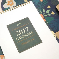 LIFE STORY - 'Endangered Animals' Series 2017 Desk Calendar