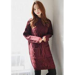 GOROKE - Dual-Pocket Cable-Knit Dress