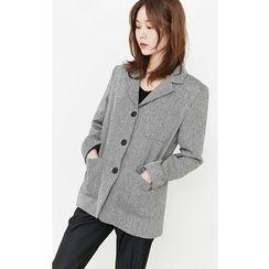 Someday, if - Herringbone Wool Blend Blazer