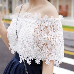 Cloud Nine - Off-Shoulder Lace Top
