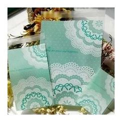 Ivyknoll - Lace Print Bakery Packing Bag Set(100pcs)