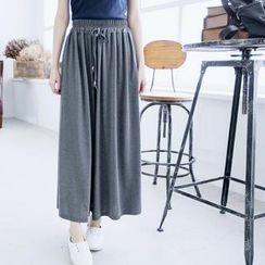LULUS - Elastic-Waist Long Skirt