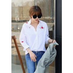 REDOPIN - Cotton Embroidered Shirt