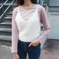 Envy Look - Round-Neck Long-Sleeve T-Shirt
