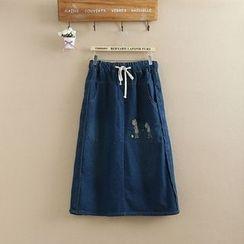 TOJI - 刺绣牛仔布裙