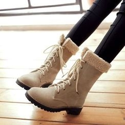 Pangmama - Lace-Up Ankle Boots