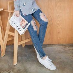 OrangeBear - Skinny Ripped Jeans