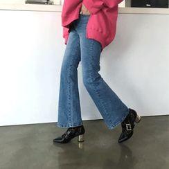 DISCOSALON - Washed Wide-Leg Jeans